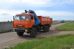 КАМАЗ 43118 вездеход с гидроманипулятором ИНМАН 150