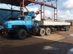 УРАЛ 44202 автопоезд с КМУ ИНМАН ИМ 150