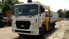 Мощный 3-х осный Hyundai HD260 с КМУ